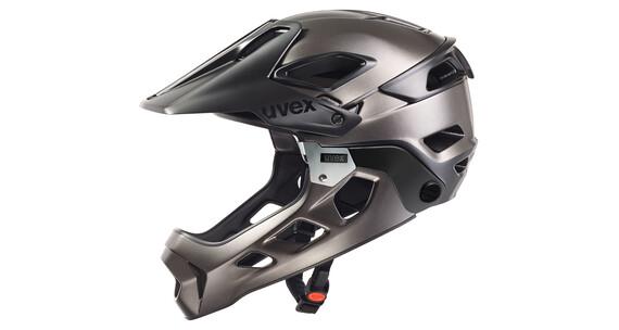 UVEX jakkyl hde Helm black-dark silver mat